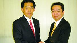 逢沢一郎氏と柳井弘